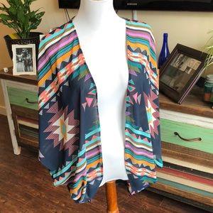 Patterned Shawl Kimono